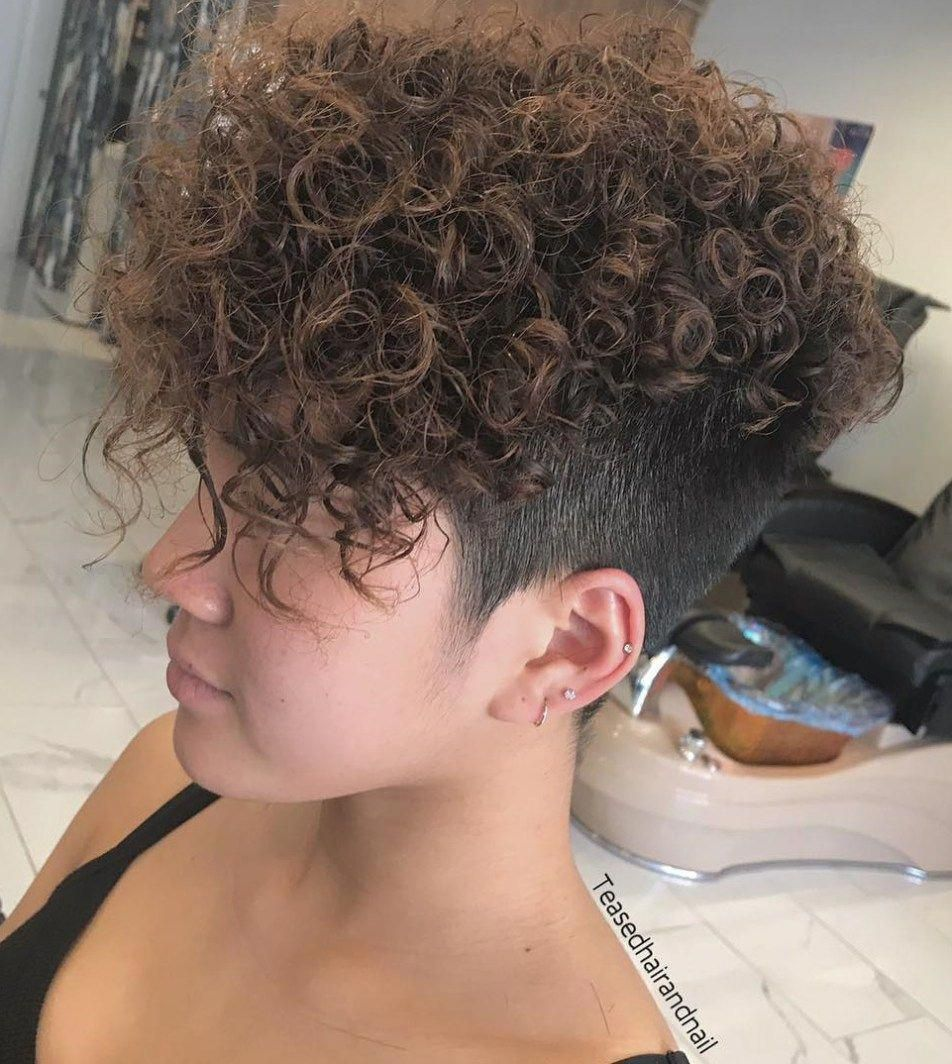 Permed long top short sides hairstyle toplonghairstyles long