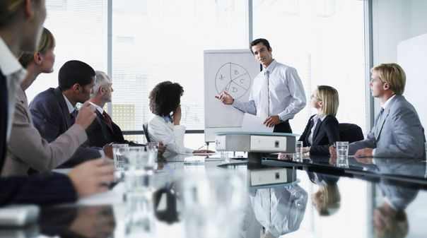Presentations In A Business Meeting Context There Are Often