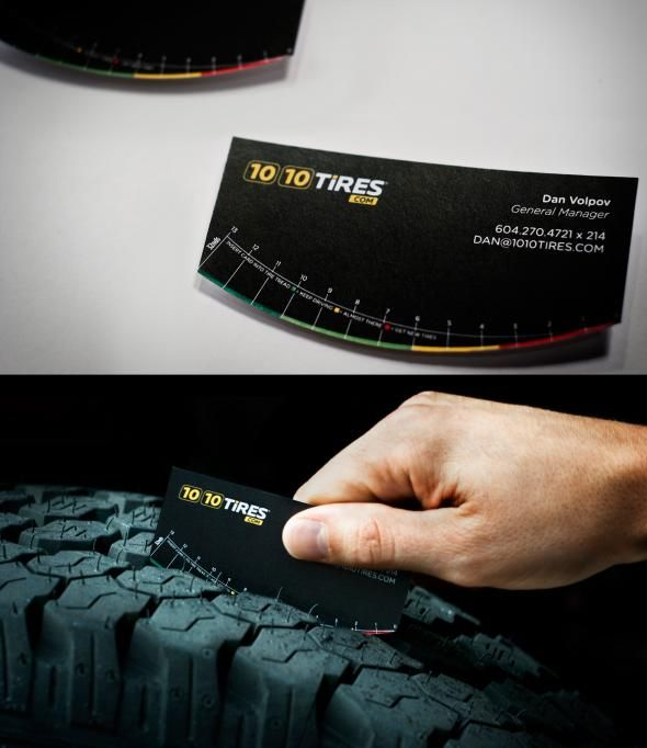 1010 Tires: Tire tread business card
