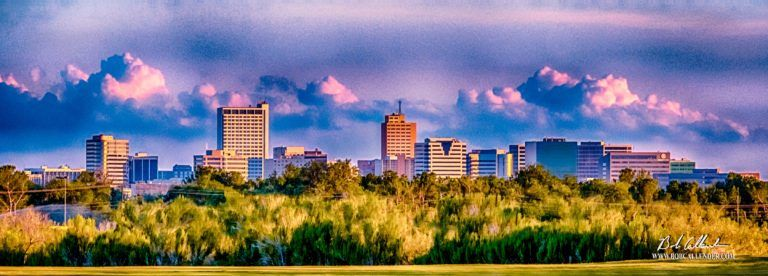 The City Of Midland In Front Of A Blue Sky Midland Splendor By Bob Callender Fine Art Midland Drone Photography
