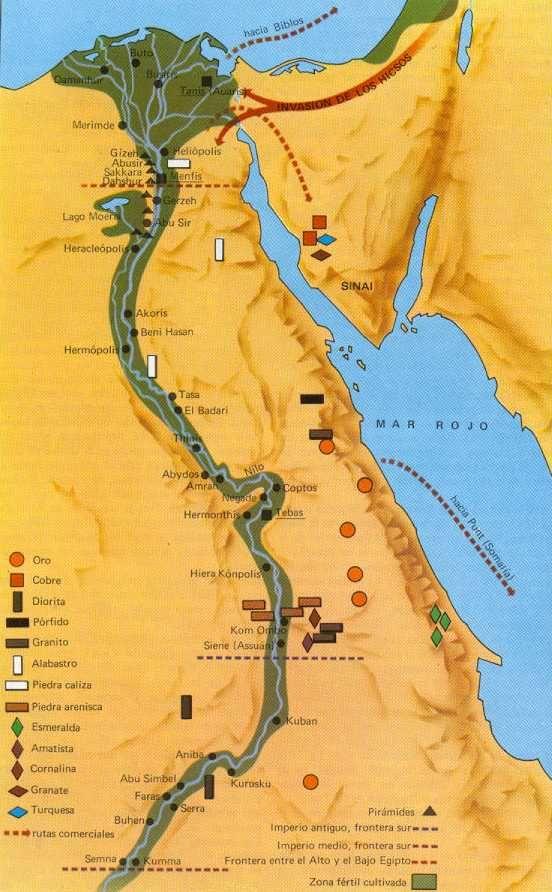 Mapa Del Antiguo Egipto Egipto Egipto Antiguo Imperio Egipcio