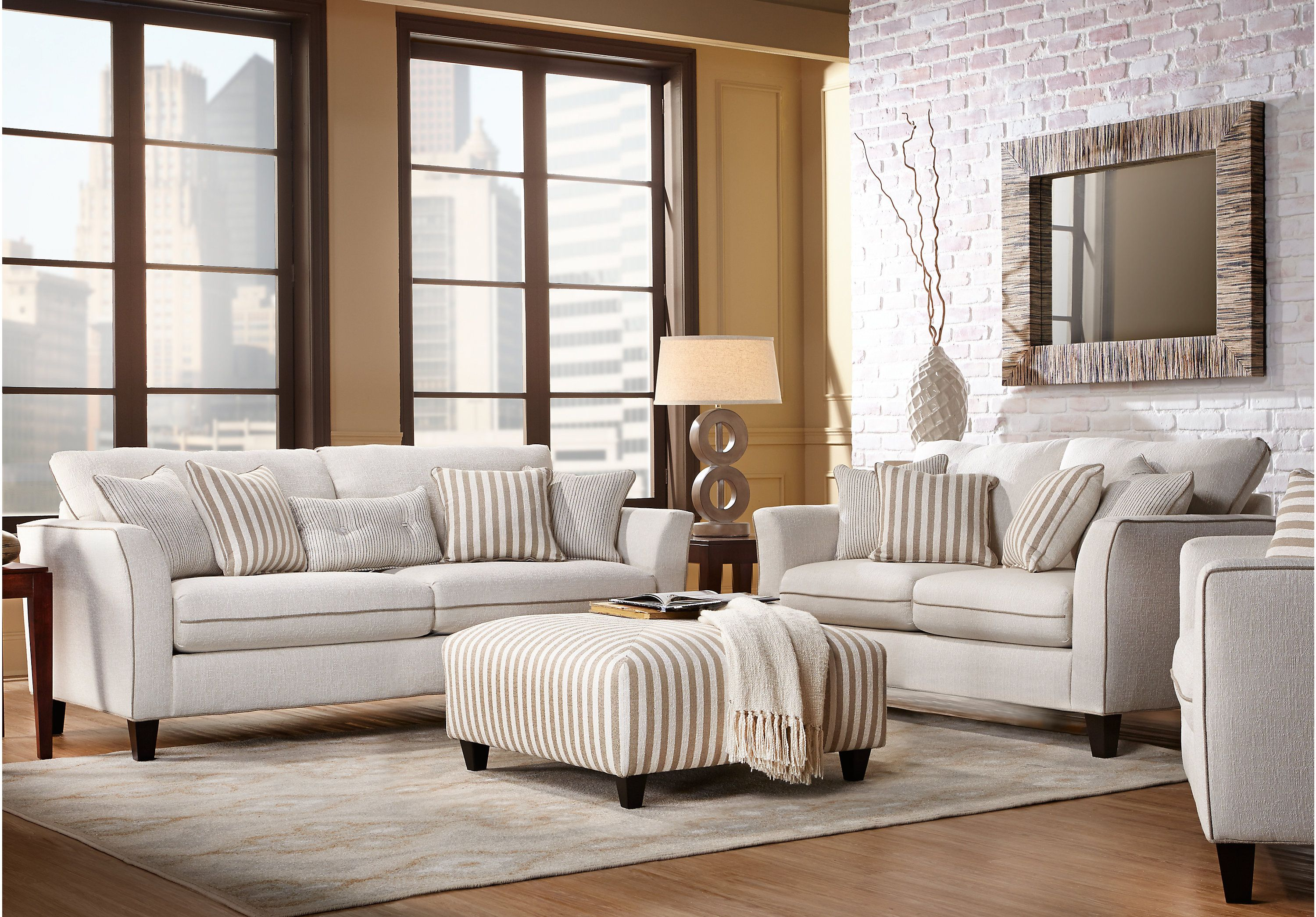 Picture Of East Shore Cream 3 Pc Living Room From Living Room Sets