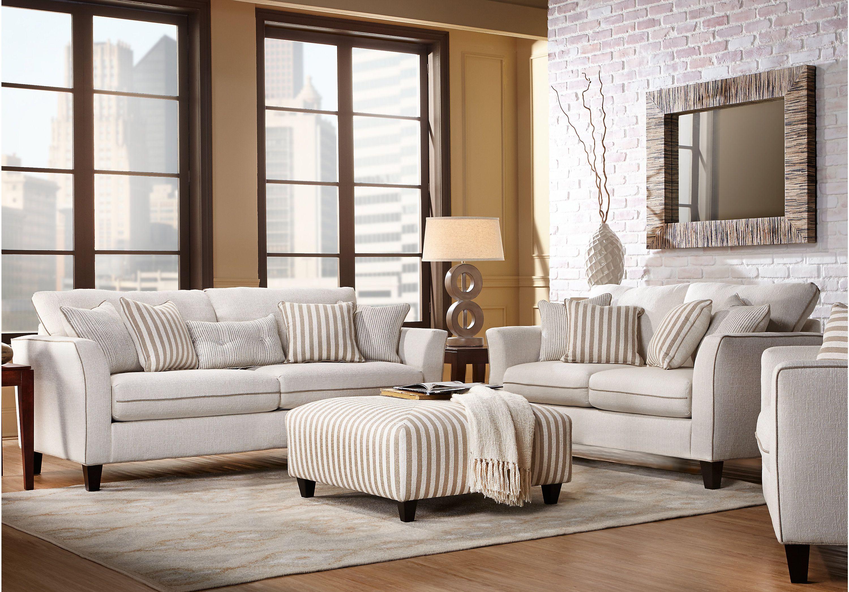 East Shore Cream 3 Pc Living Room Best Living Room Design Living Room Sets White Sofa Living Room 3 pc living room set
