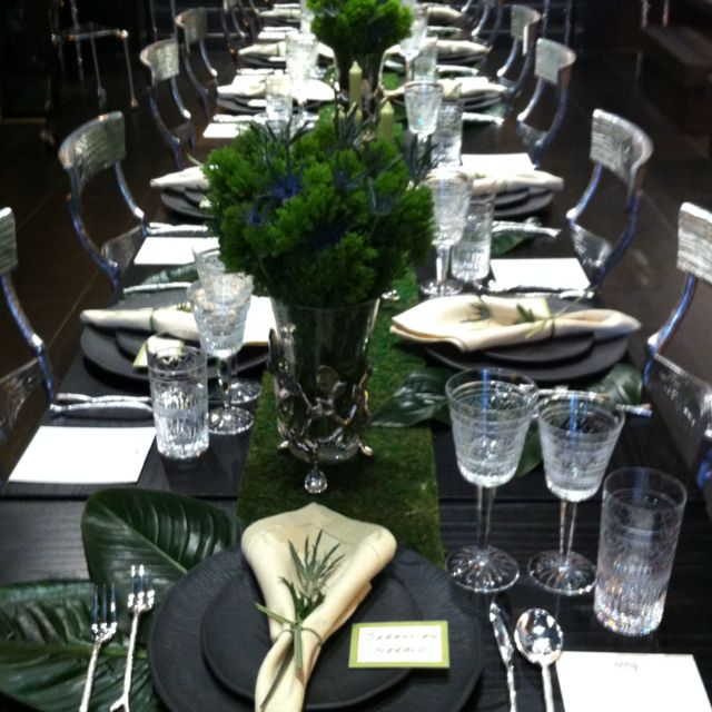Table Setting At Michael Aram Ltd Dinner Party Dinner Party