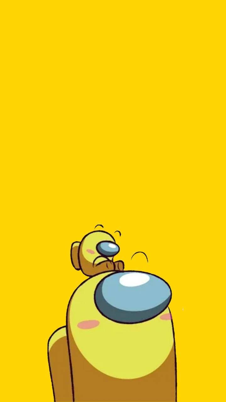 Among us yellow wallpaper by Luckycato - ed - Free