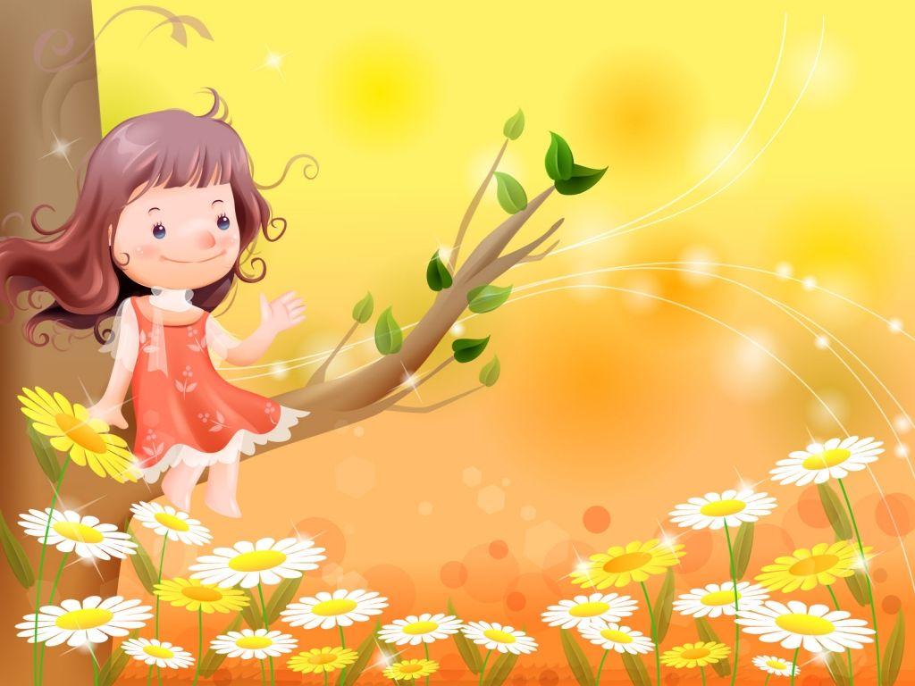 Yellow flower girl vector very cute photos pinterest wallpaper yellow flower girl vector izmirmasajfo