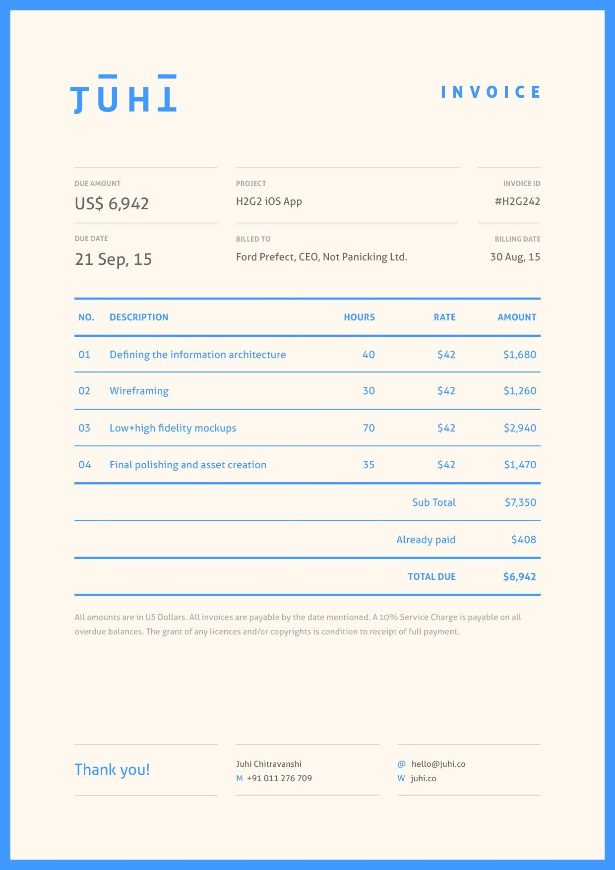 50 Beautiful And Functional Invoice Designs Examples To Inspire