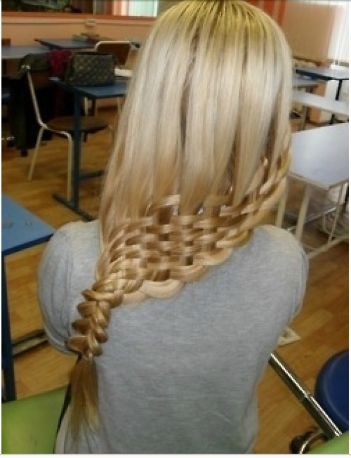 Basket Weave Hair Into A Side Ponytail Hair Styles Pinterest