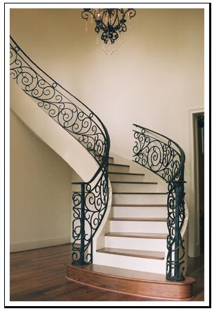 Custom Wrought Iron Stairs   Iron stair railing, Wrought ...