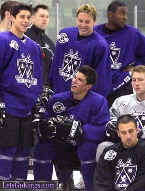 Jack Johnson And Sidney Crosby Rinkrat S La Kings Photo Gallery Sidney Crosby Jack Johnson King Photo
