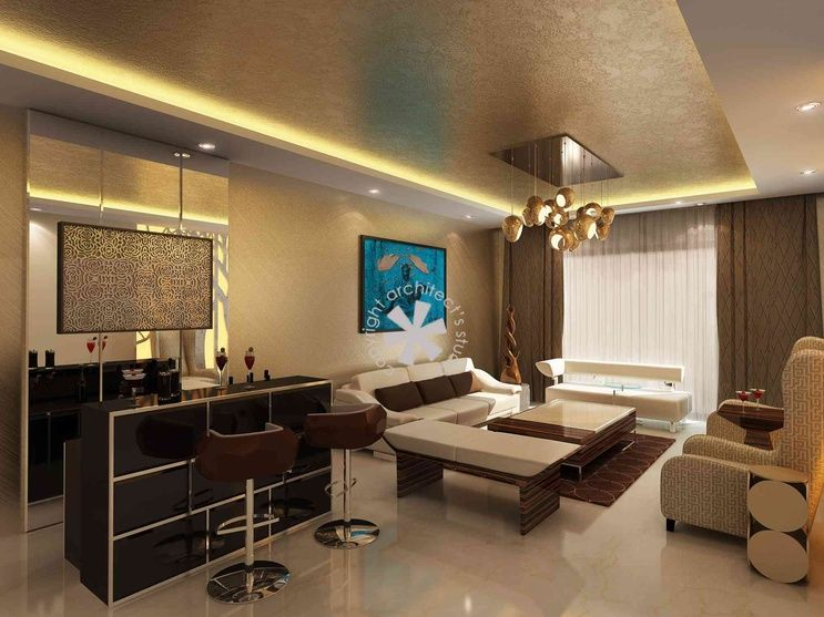 Luxurious Living Space With Home Bar Design By Architects Studio Architect In Delhi India Country Living Room Home Bar Design Indian Living Rooms