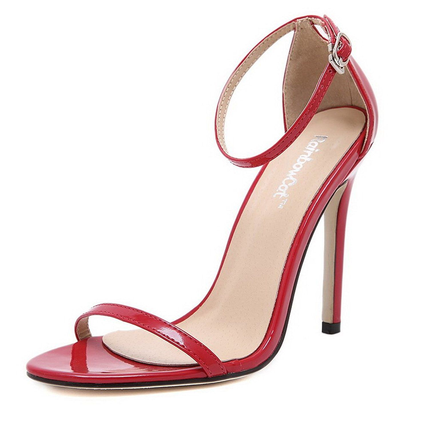 European sandals shoes - Balamasa Ladies Ankle Cuff Stiletto European Style Cow Leather Sandals Review More Details Here