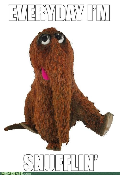 Snuffleupagus Laughter Cures Everything Pinterest Funny Haha