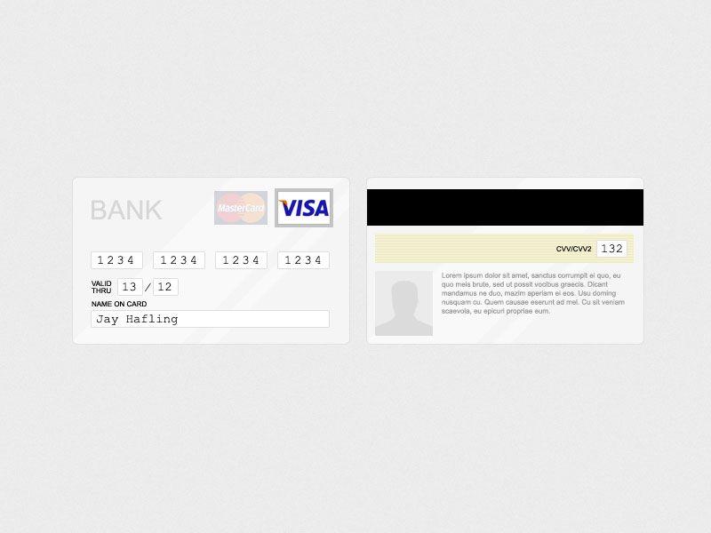 credit card UI Form, Input  Controls Pinterest Form input - credit card form