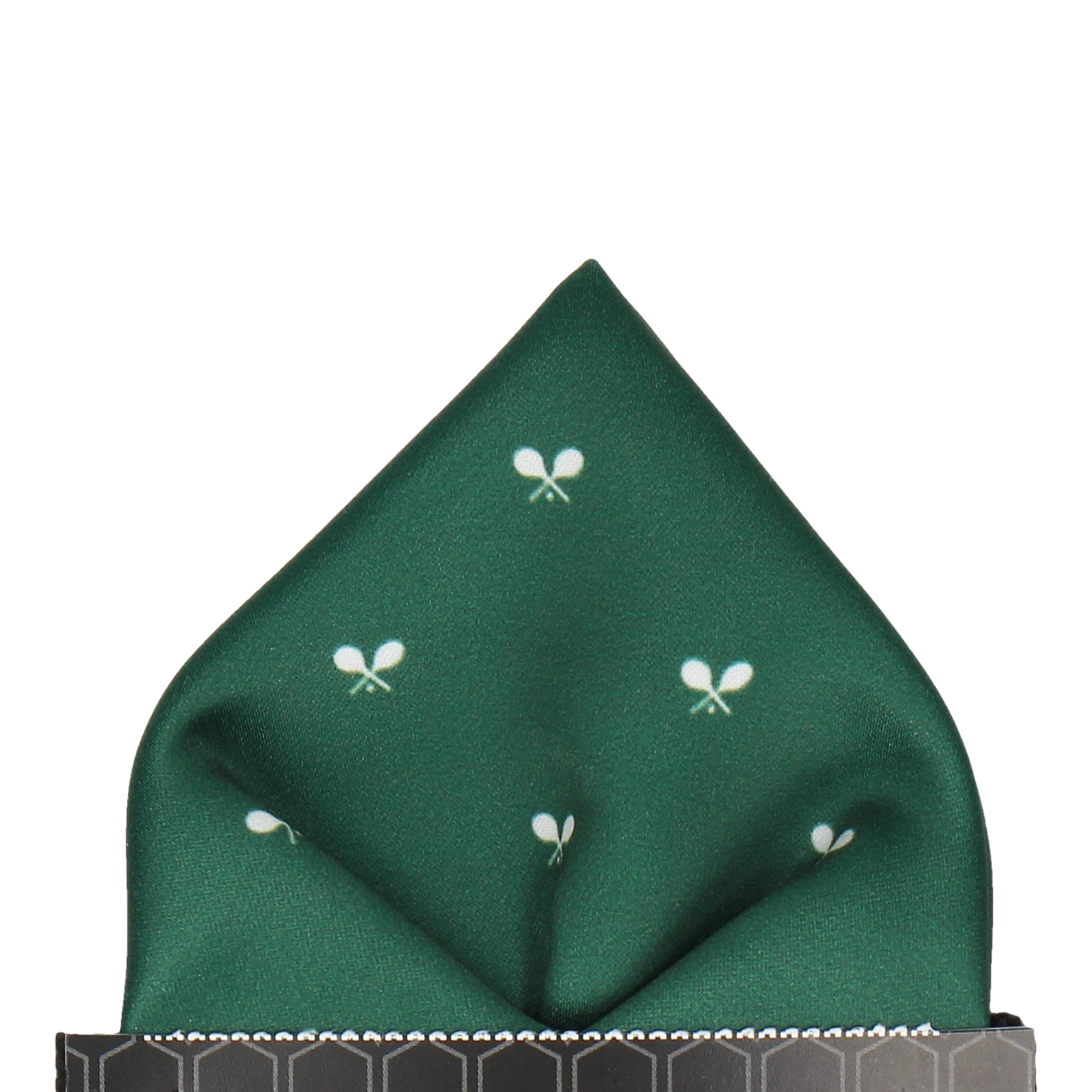 Dark Green Icon Tennis Pocket Square