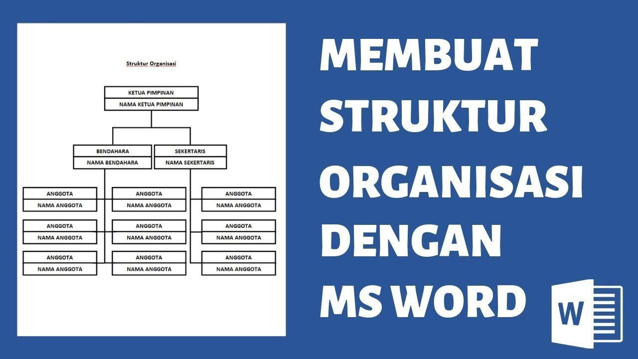 Cara Membuat Struktur Organisasi Dengan Microsoft Word Struktur Organisasi Organisasi Pimpinan