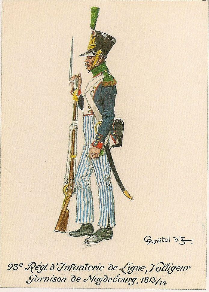 """Volteggiatore del 93 rgt. fanteria di linea della guarnigione """"Magdebourg"""""""