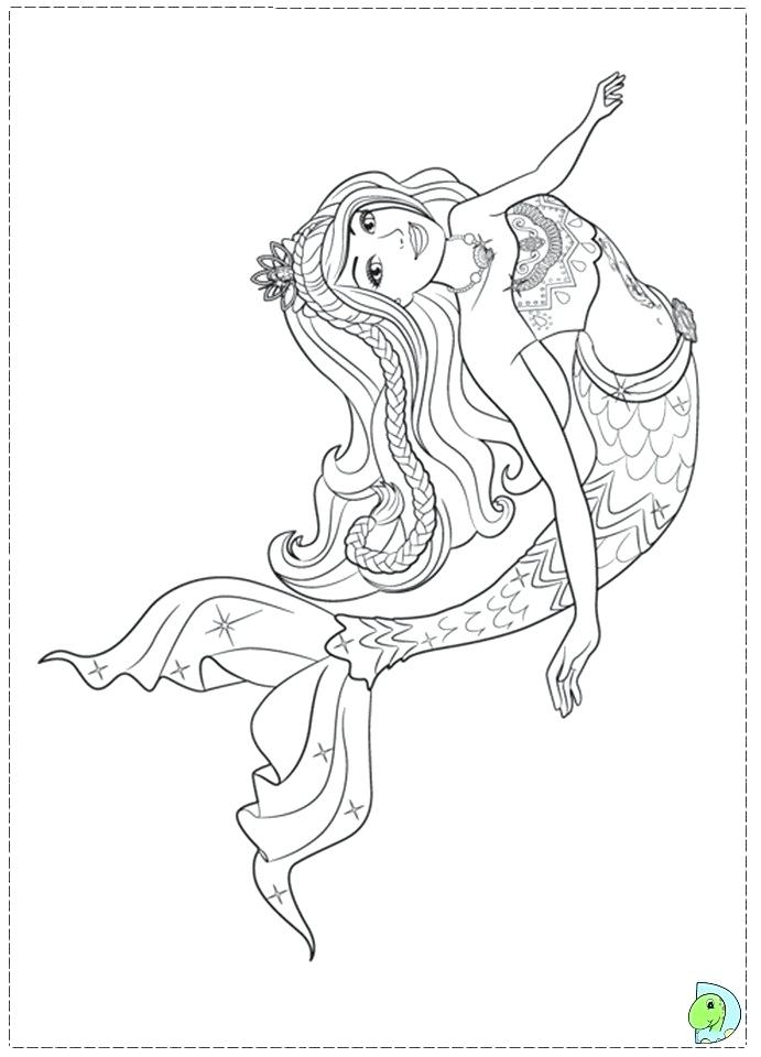 Barbie Mermaid Coloring Barbie Coloring Pages Coloring Pages For