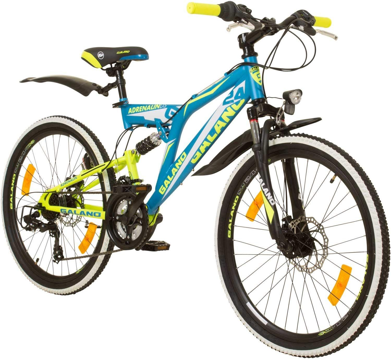 Galano 24 Zoll Mtb Fully Adrenalin Ds Mountainbike Stvzo Jugendfahrrad Das Galano Mountainbike Ist Im Alltag Und Bei Leicht In 2020 Jugendfahrrad Fahrrad Mountainbike