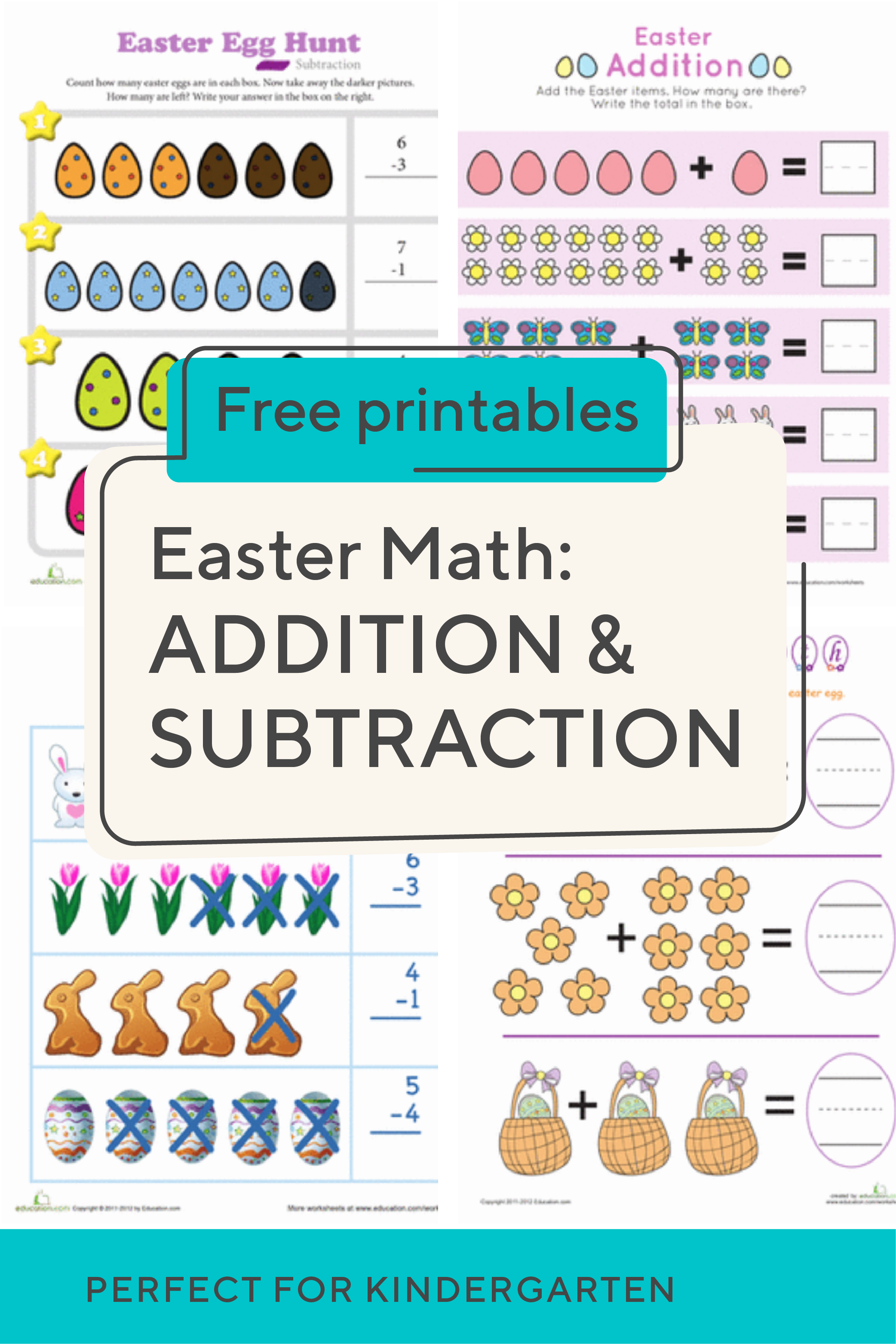 Spring Into The Season With This Collection Of Kindergarten Easter Addition And Subtraction Worksheets Your Child Will Love These E Subtraction Kindergarten Addition Subtraction Addition Subtraction Worksheets