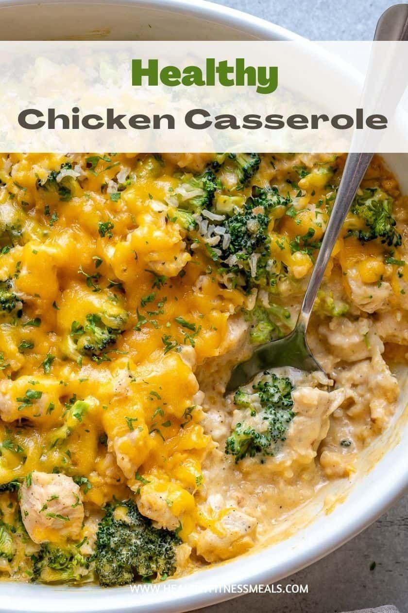 Easy Chicken Broccoli Rice Casserole Recipe Healthy Chicken Casserole Chicken Broccoli Rice Chicken Broccoli Rice Casserole