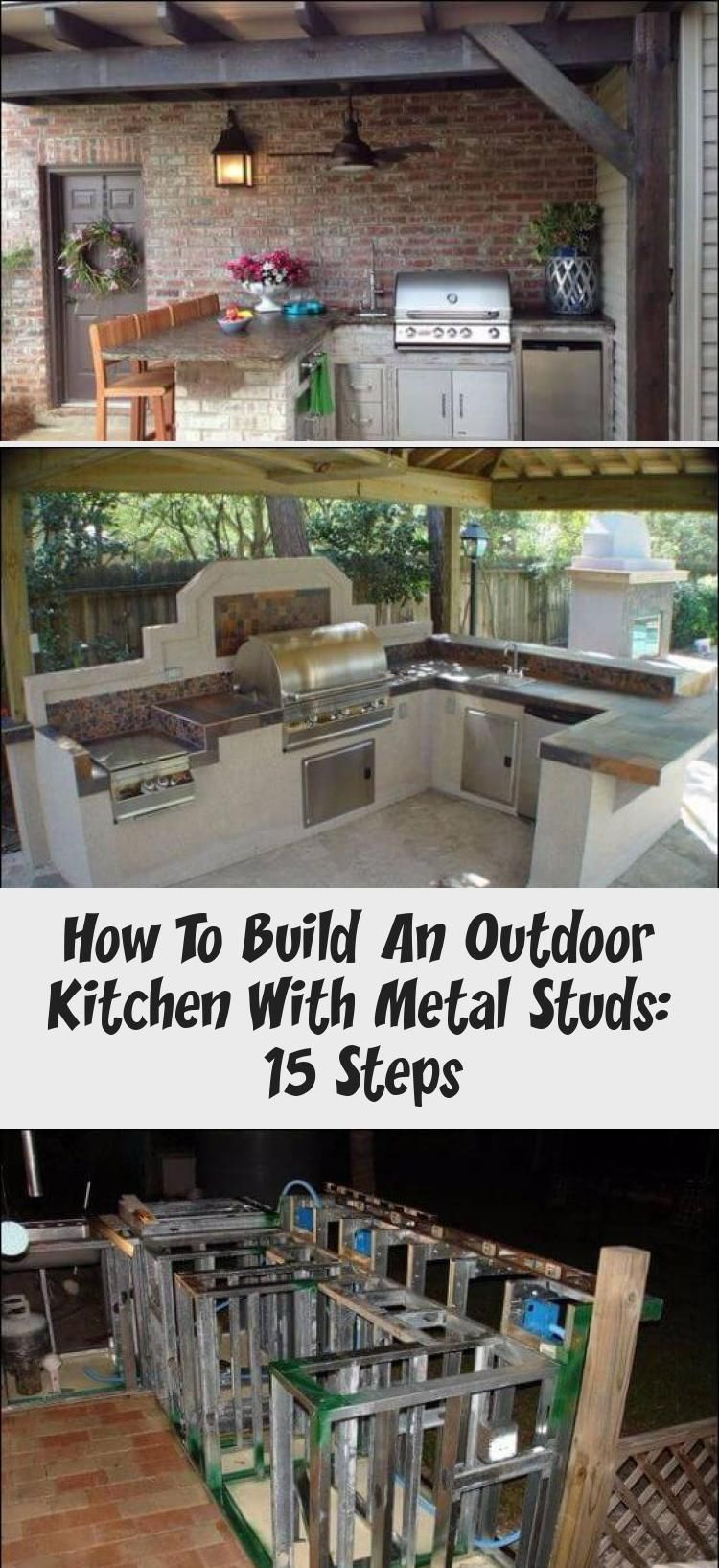 Do You Know How To Build An Outdoor Kitchen With Metal Studs If Not You Re In The Right Build Outdoor Kitchen Outdoor Kitchen Lighting Outdoor Kitchen Island