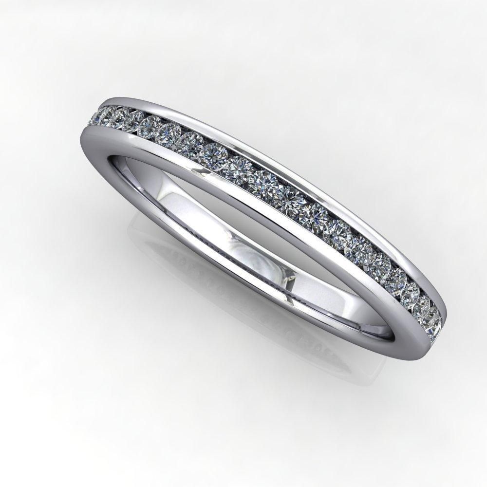 Channel Set Diamond Wedding Band 1 4 Ctw Diamond Wedding Bands Channel Set Diamond Manufactured Diamonds