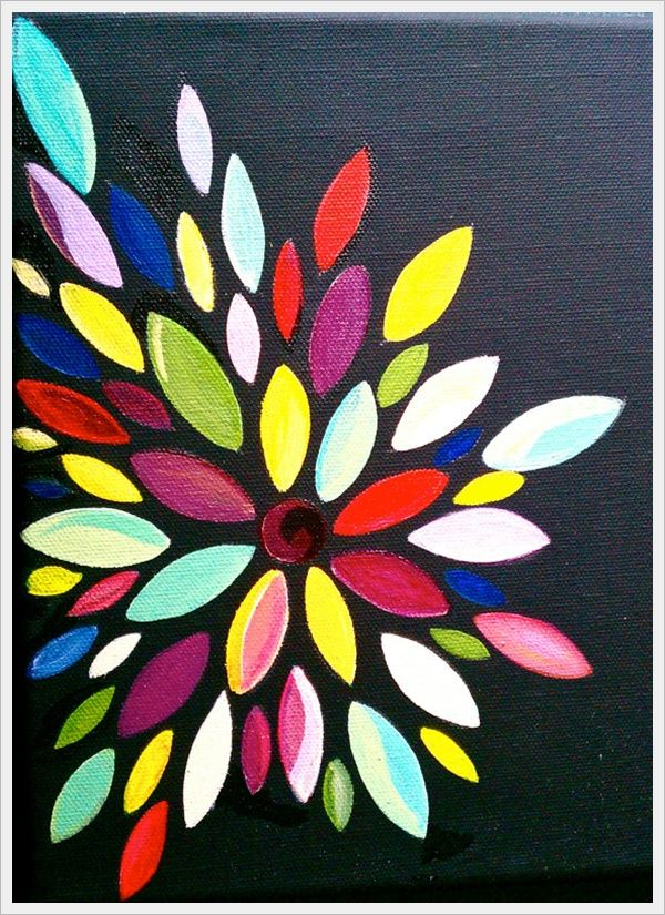 30 Creative Abstract Flower Paintings | Abstract flower ...