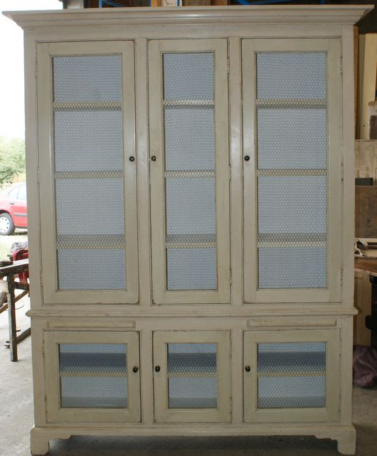 Custom Built Bookcase With 6 Wire Doors(options Are Either