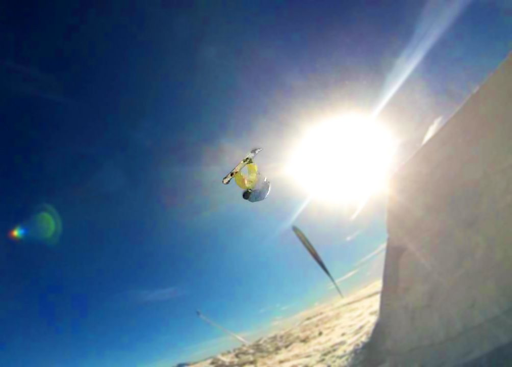 Snowboarding and never give up