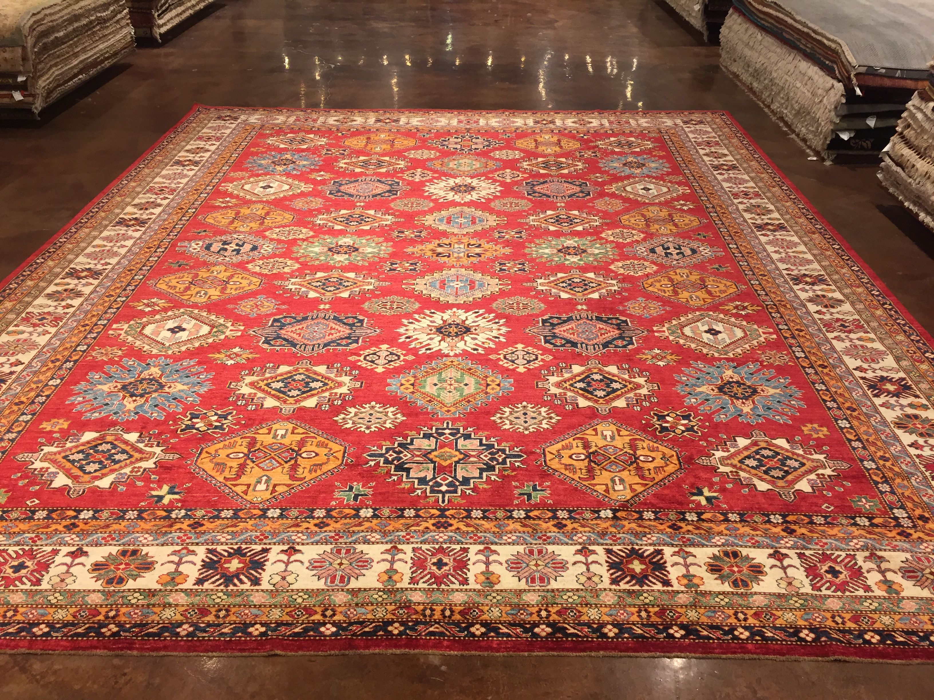 Afghan Kazak 14x18 Perfect Size For Living Room Dining Area Or