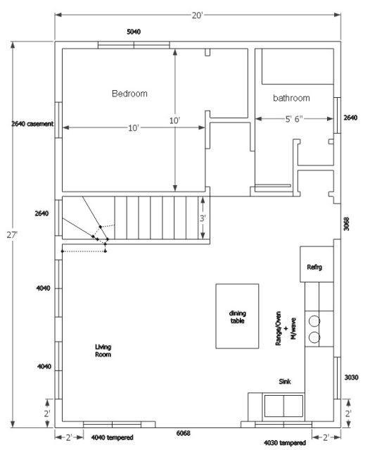 20x27 Single Story Minnesota Floor Plans House Plans Stairs Design