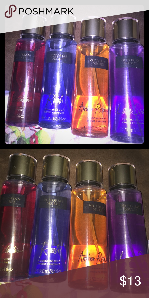 eced7c6355 Victoria secret body mist Brand new 1-love spell 2-amber romance 3-rush  4-pure seduction  13 each Victoria s Secret Other
