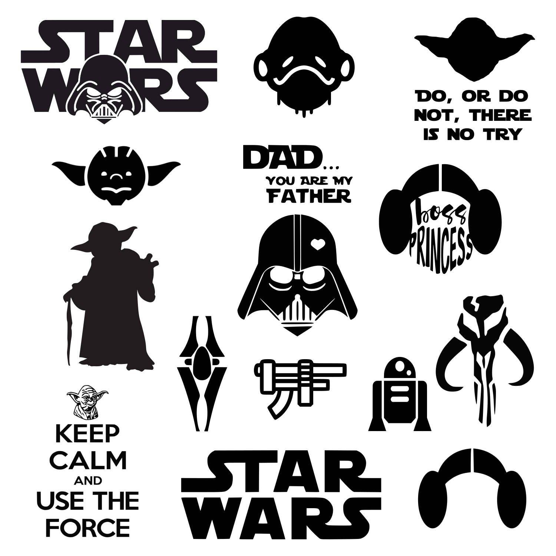 Star Wars svg Darth Vader svg Master Yoda svg Princess
