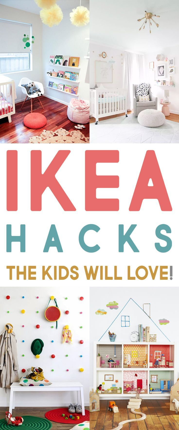 IKEA Hacks the Kids Will Love | Pinterest - Kinderkamer, Meisjes ...