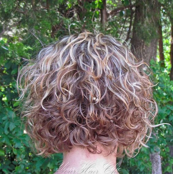 Image Result For Stacked Spiral Perm On Short Hair Naturally Curly Hairstylescurly