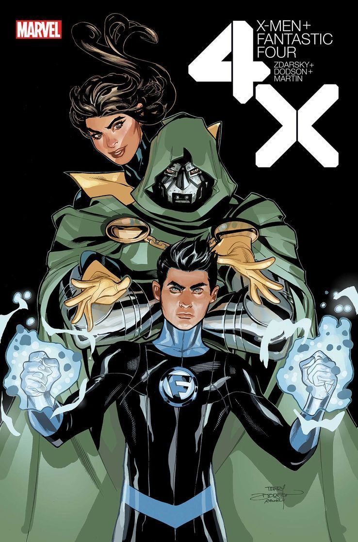 X Men Fantastic Four 4 Franklin Reed Doctor Doom And Kitty Pryde By Rachel And Terry Dodson In 2020 Fantastic Four Fantastic Four 4 X Men