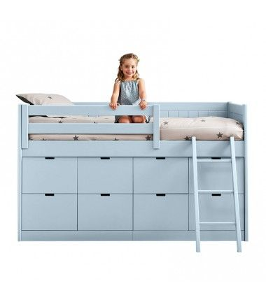 lit sur lev enfant 8 box de rangement bahia http www. Black Bedroom Furniture Sets. Home Design Ideas