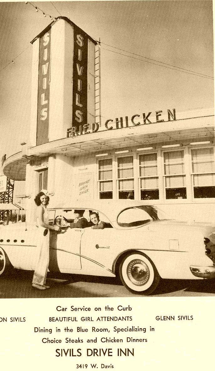 An Advert For The Memorable Sivil S Diner In Oak Cliff Dallas Texas Drawn From Sunset High School S Bis Sunset High School Dallas Fort Worth Ghost Signs