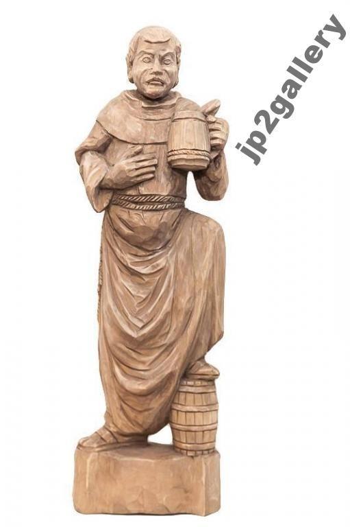Mnich Z Kuflem I Beczka Rzezba Drewniana Z Drewna 5328258571 Oficjalne Archiwum Allegro Buddha Statue Statue Art