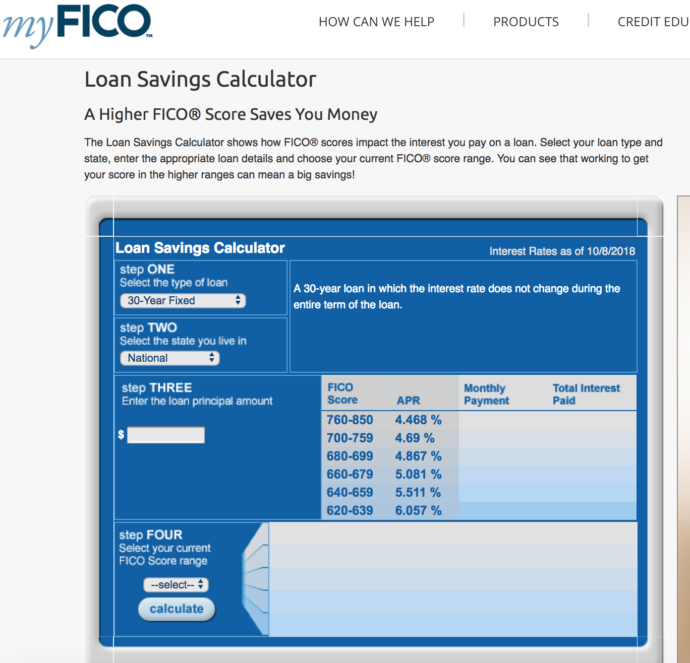 Higher Fico Scores Save You Money On Loans By Qualifying You For Lower Interest Rates Which Can Save You Thousands O Savings Calculator Credit Education Loan