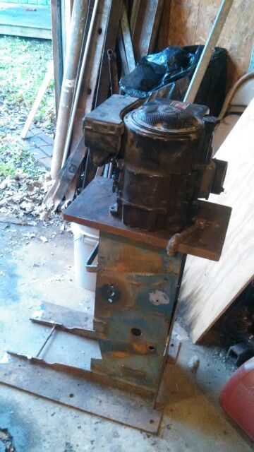 Small Engine Stand Made From Antique Four Tire Changer Inexpensive Way To Build A With S