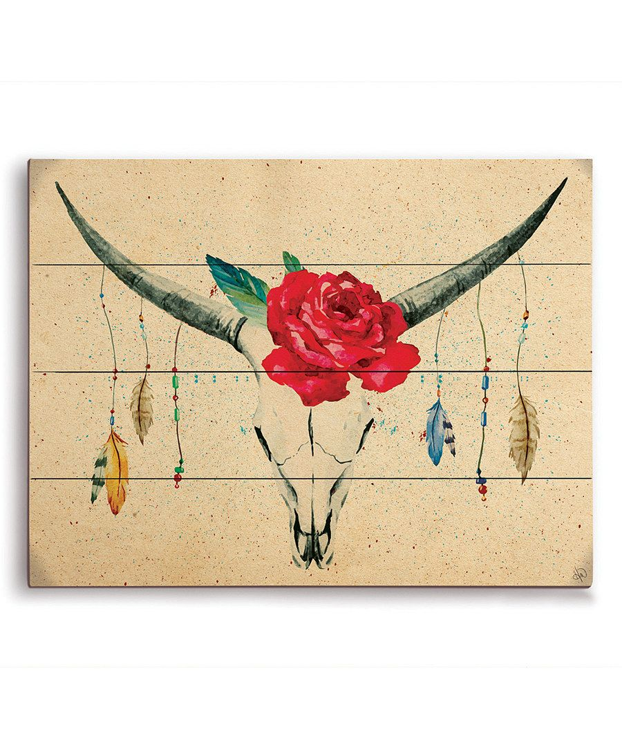 Look at this Red Cattle Wall Art on #zulily today! | Decor ...