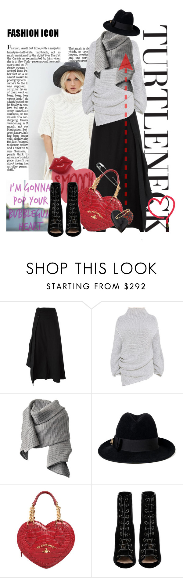 """""""I'm gonna pop your bubblegum heart!"""" by no-where-girl ❤ liked on Polyvore featuring Yohji Yamamoto, STELLA McCARTNEY, Acne Studios, Gucci, Vivienne Westwood, Barbara Bui and Alexis Bittar"""