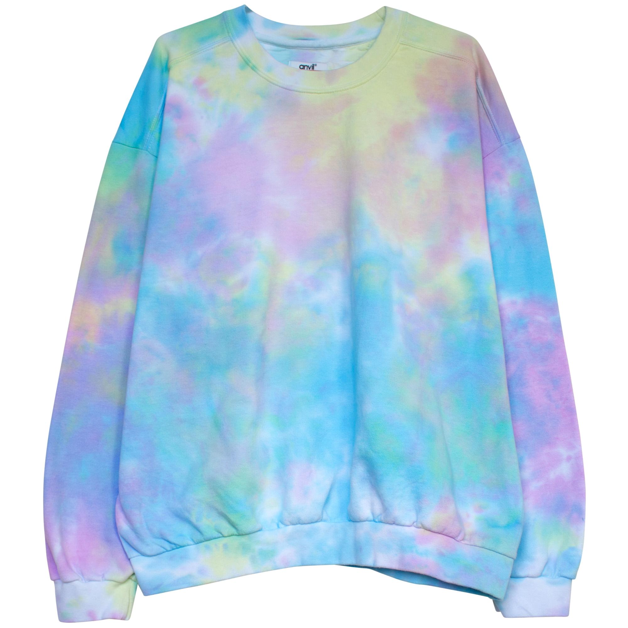 90 S Pastel Goth Tie Dye Sweatshirt In 2021 Tie Dye Sweatsuit Tie Dye Sweatshirt Tie Dye Diy [ 2000 x 2000 Pixel ]