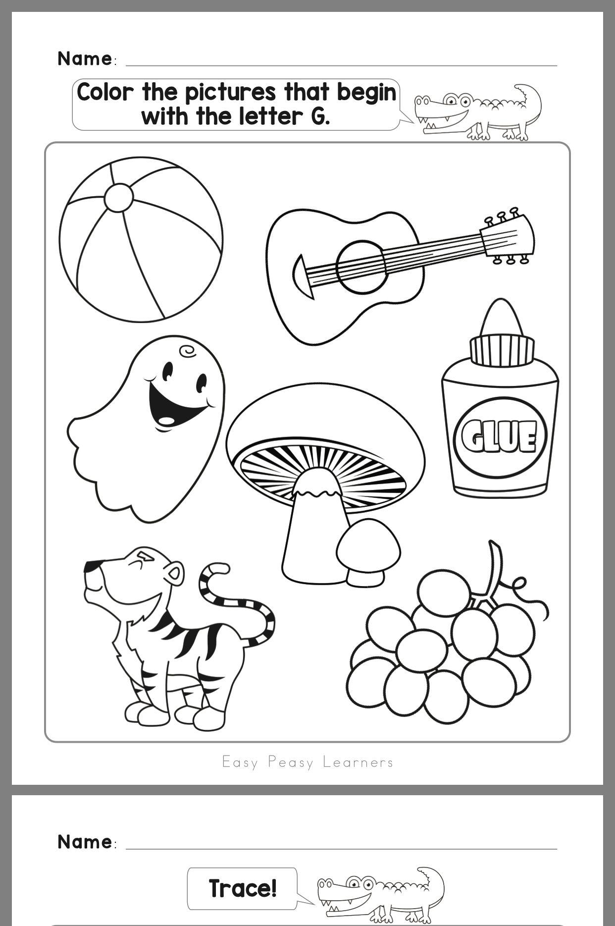 Pin By Nicolegpopovich On Quinn Homeschool Preschool Letters Letter G Worksheets Kindergarten Worksheets Printable letter g worksheets for