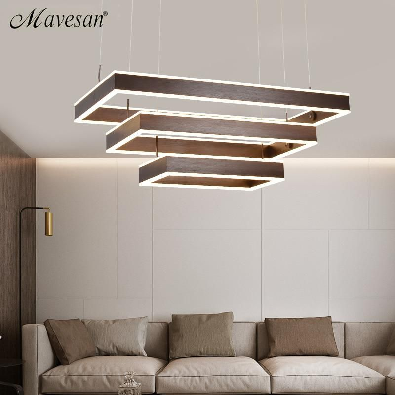 Modern Led Pendant Lamps For Dinning Room Acrylic Round Circle