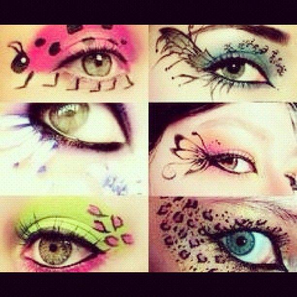 Creative eye makeup designs!