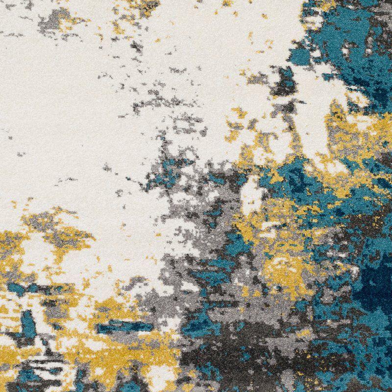 Wrought Studio Shuff Aqua Bright Blue Area Rug Allen Ct