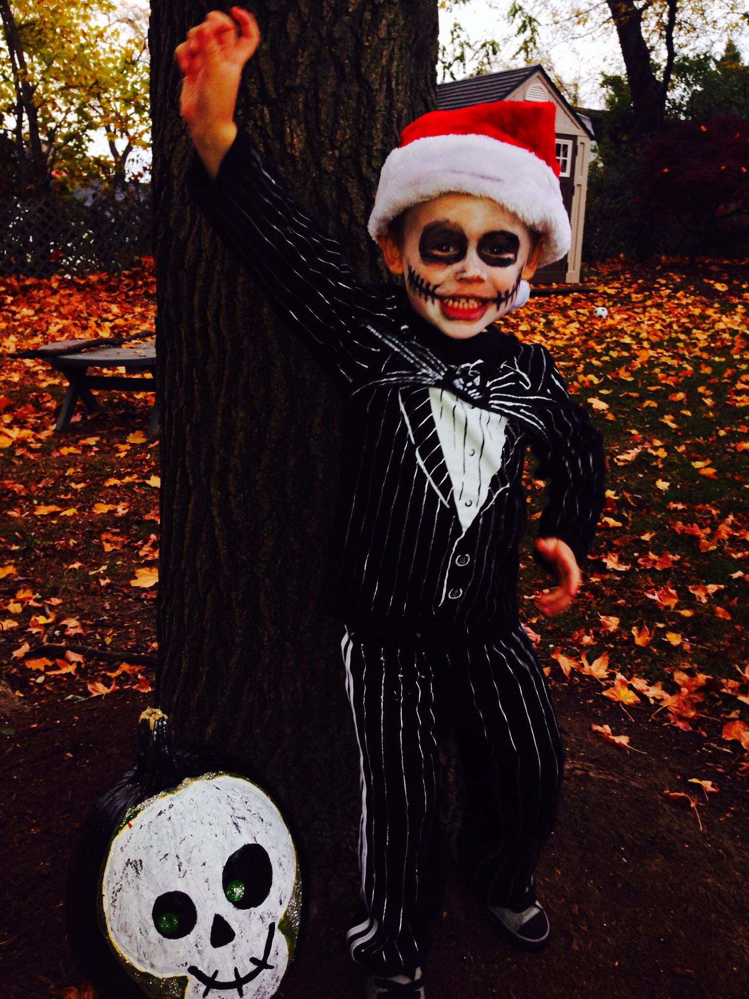 Toddler jack skellington costume! Buy a tuxedo shirt and